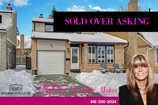 77 Andrea Road - SOLD OVER ASKING - Ajax